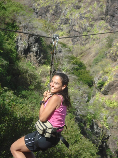 smiles on the zip line