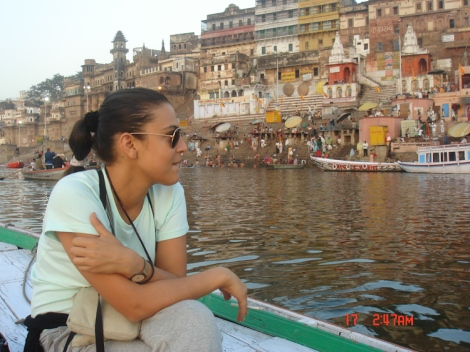 morning boat ride Ganges River