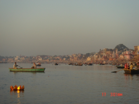 Tourists River Ganges
