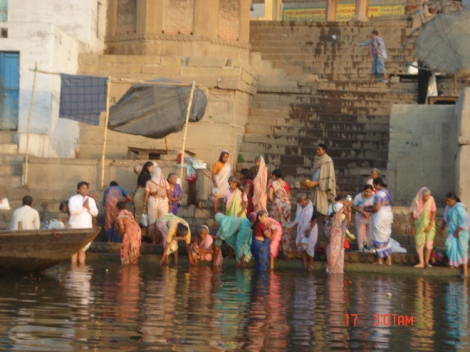 Bathers Ganges River