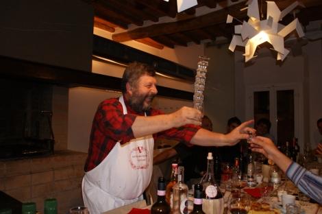 Dante serving Grappa