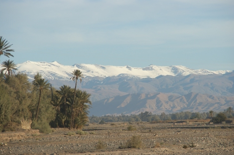 Atlas mountains - snowy peaks