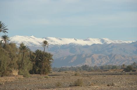 Atlas mountains - snowy peaks